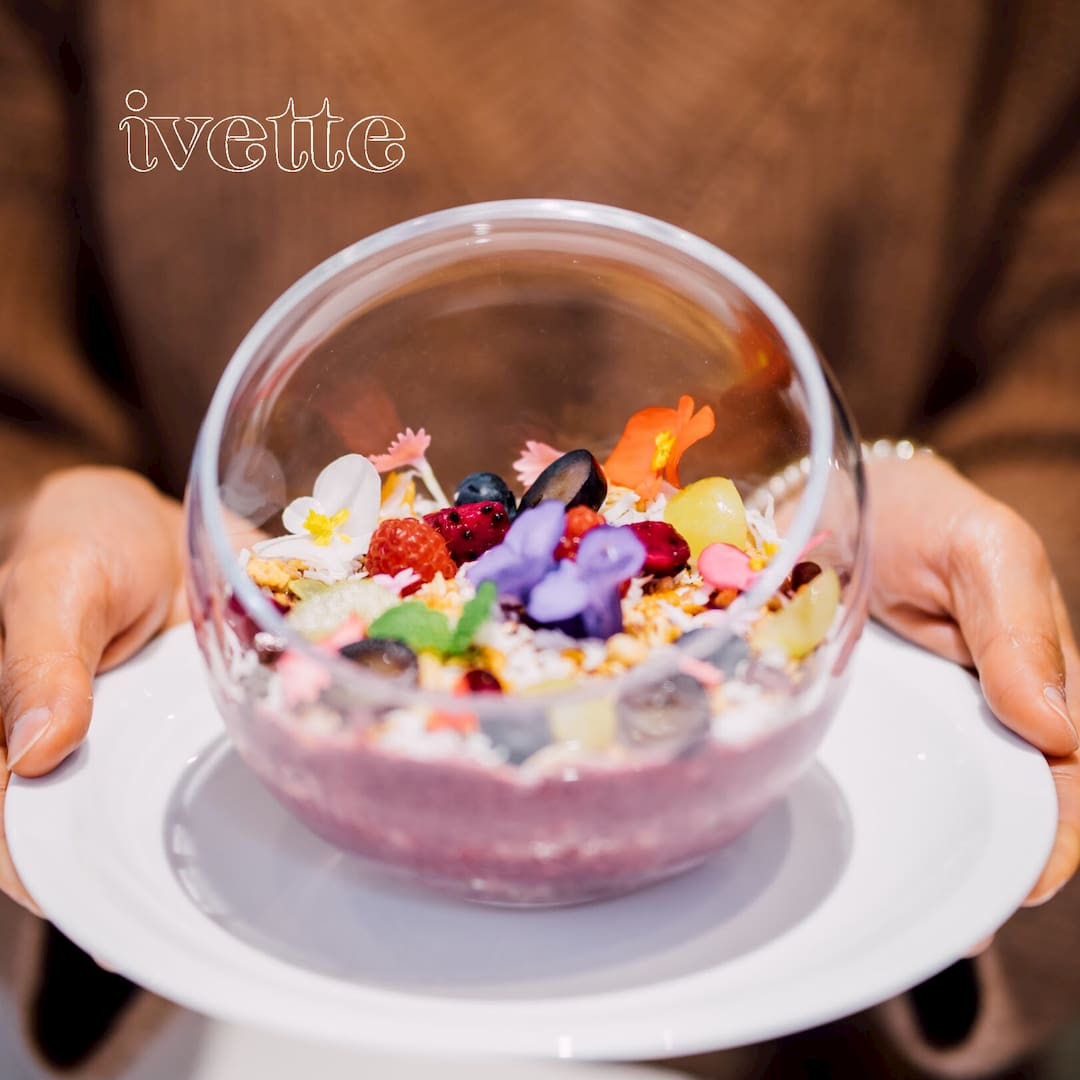 ivette cafe- 巴西莓蜂蜜穀麥水果盆 (圖片引用自ivette cafe線上菜單圖片)