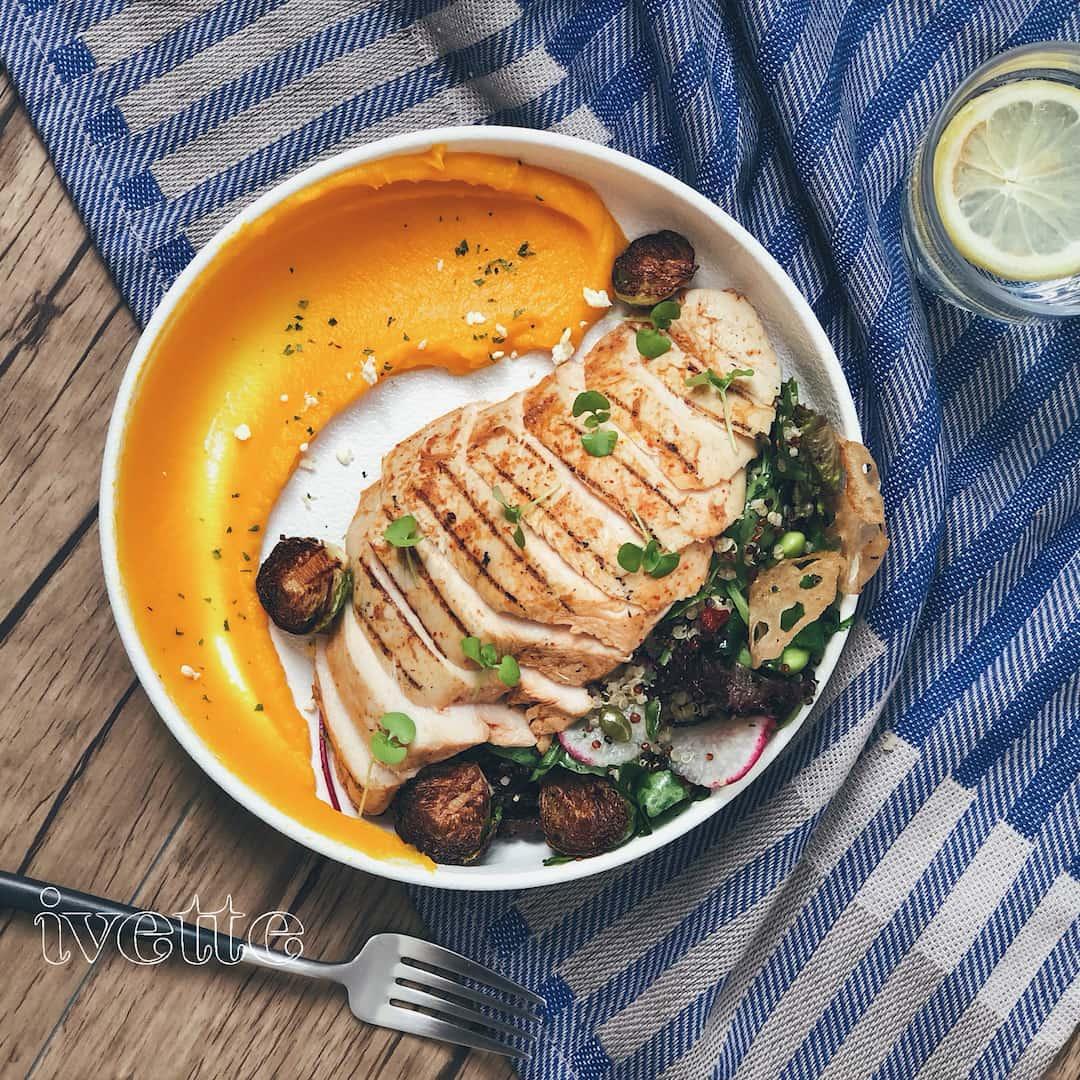 ivette cafe- 雞胸肉藜麥沙拉(圖片引用自ivette cafe線上菜單圖片)